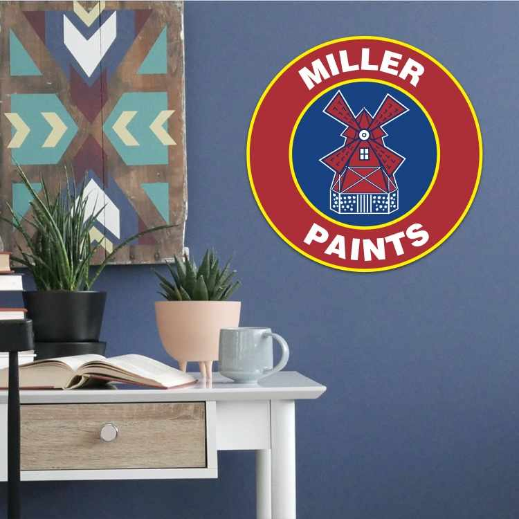 Miller Paint icon with blue-painted room