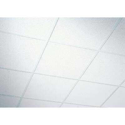 Radar Fissured 2 Ft. x 2 Ft. White Mineral Fiber Shadowline Tapered Suspended Ceiling Tile (16-Count)