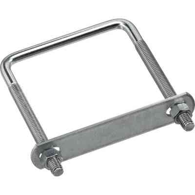 National 3/8 In. x 3-5/8 In. x 5 In. Zinc Square U Bolt
