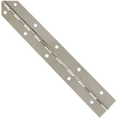 National Steel 1-1/2 In. x 12 In. Nickel Continuous Hinge
