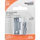 National 1-1/2 In. Zinc Tight-Pin Narrow Hinge (2-Pack) Image 2