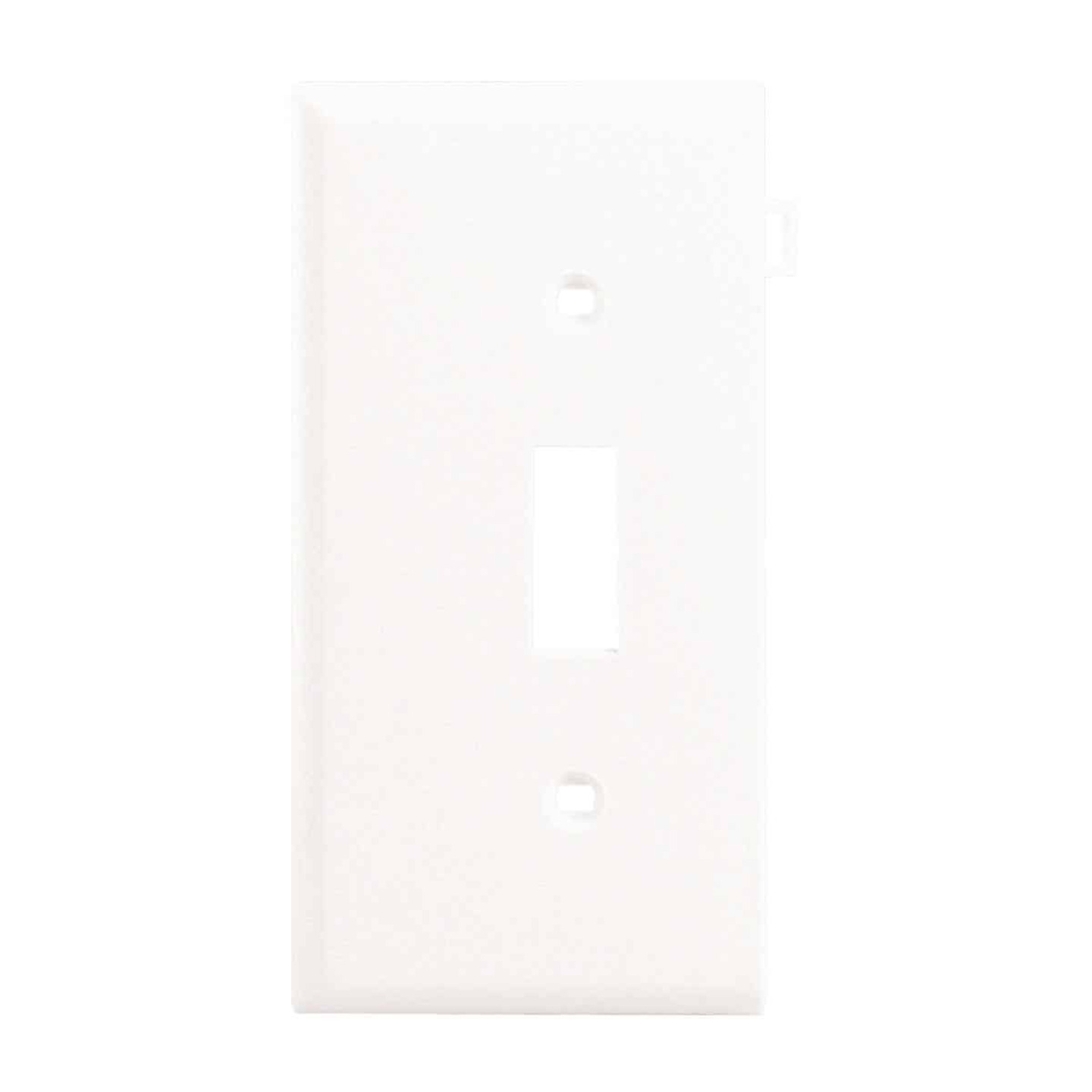 Leviton 1 Gang Plastic Sectional Toggle Switch Wall Plate End Panel White Oman And Son Do It Best Builders