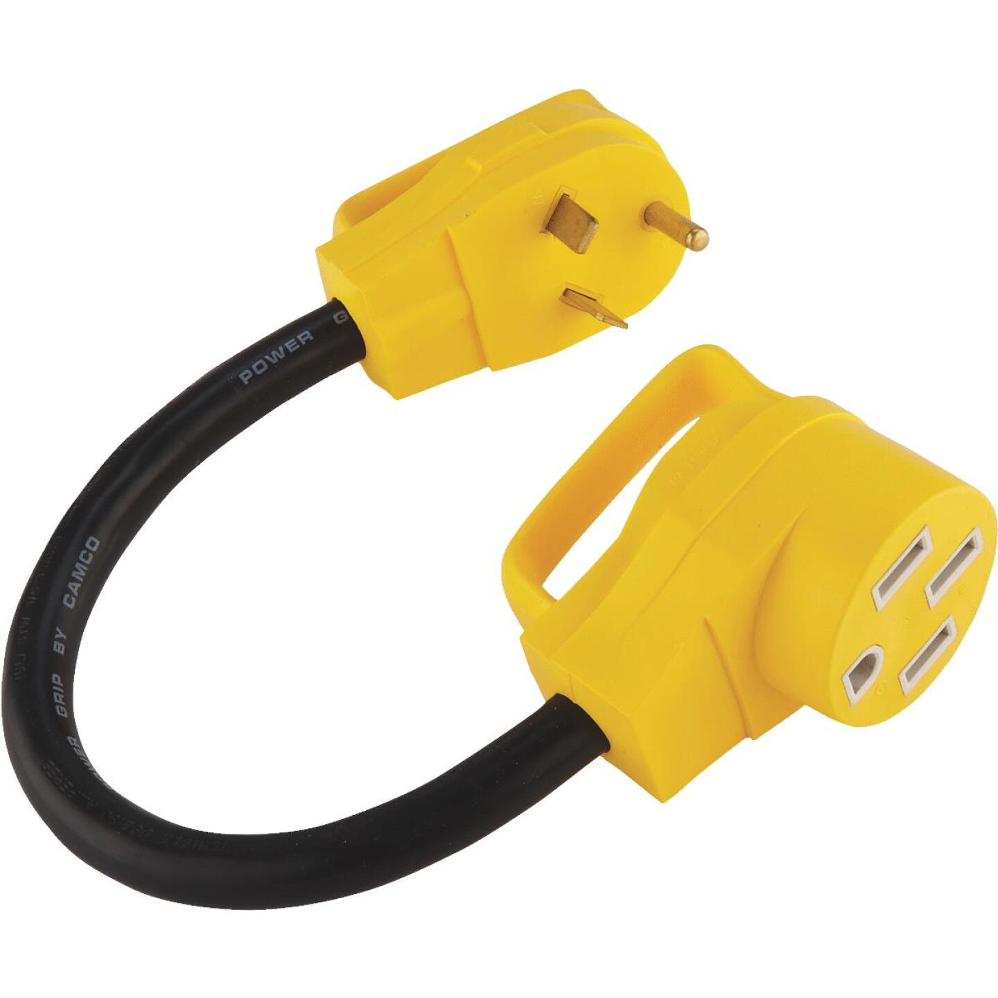 Camco Powergrip 30a 50a Dogbone Rv Power Cord Adapter Oman And Son Do It Best Builders