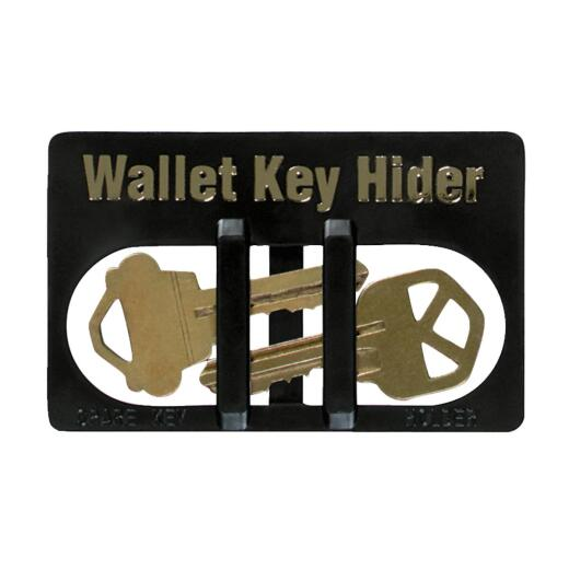 Lucky Line Black Plastic Wallet Card Key Hider