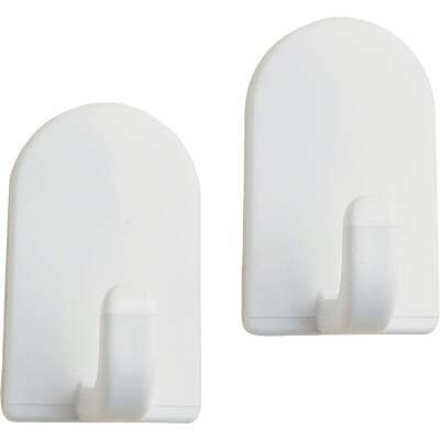 InterDesign Soap Savers Mini White Plastic Adhesive Hook (2-Pack)