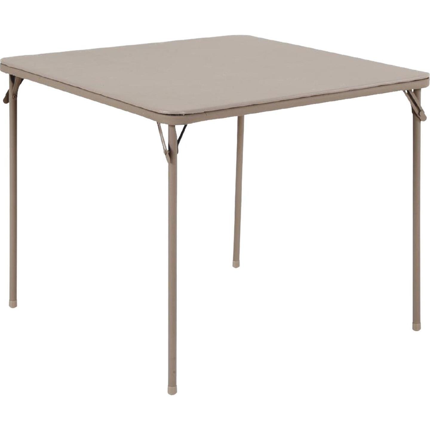 COSCO 34 In. x 34 In. Folding Table, Sand Image 1