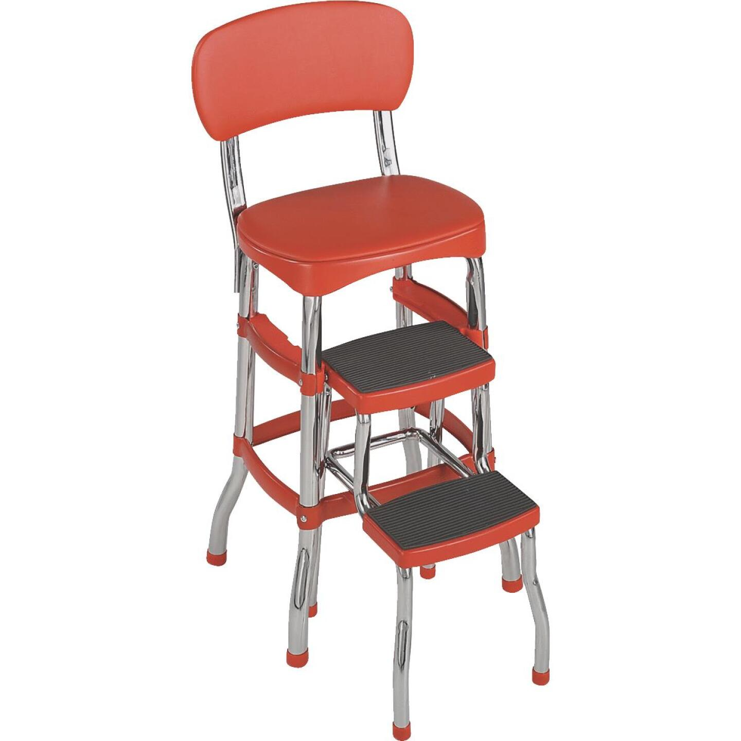COSCO Retro Red 2-Step Stool Chair Image 1