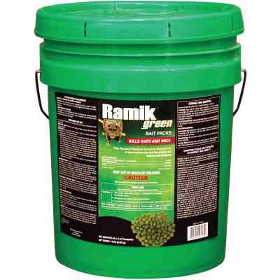 Ramik Green Pellet Bait Pack Rat And Mouse Poison (60-Pack)
