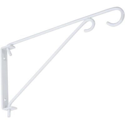 National 9 In. White Steel Swivel Hanging Plant Bracket