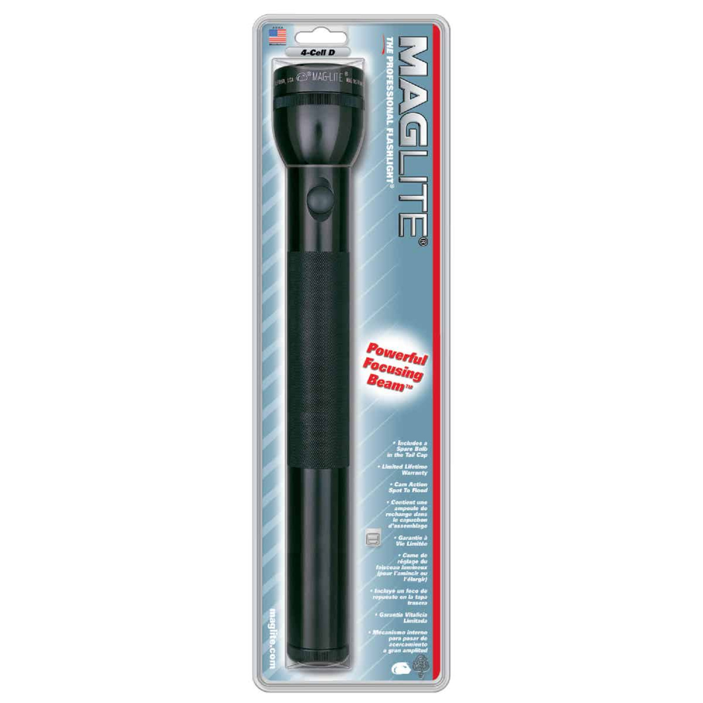 Maglite 98 Lm. Xenon 4D Flashlight, Black Image 3