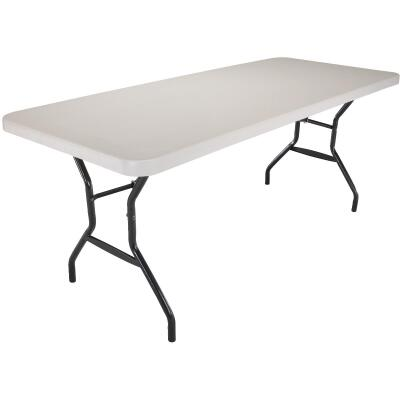 Lifetime 6 Ft. x 30 In. White Granite Commercial Grade Folding Table