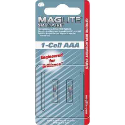 Maglite Solitaire Xenon 1.2V Flashlight Bulb (2-Pack)